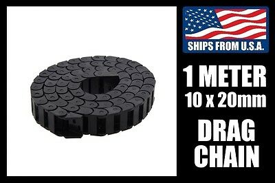1000mm Length 10mm x 20mm ID Cable Drag Chain, Meter Stock for CNC/3D Printers