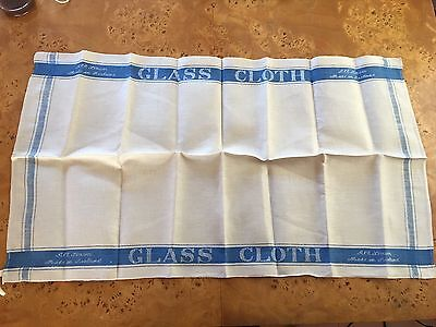 Never Used Irish Linen Bar Cloth Glass Towel Vintage Early 20th C
