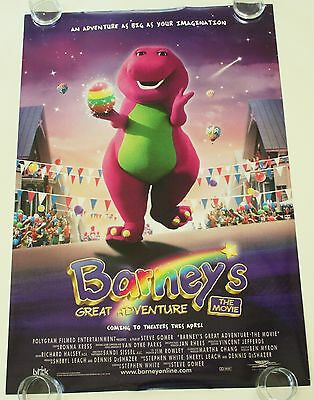 Barney's Great Adventure 27X40 Ds Movie Poster One Sheet New Authentic