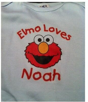 Personalized Elmo toddler shirt baby tshirt one piece bodysuit infant clothes