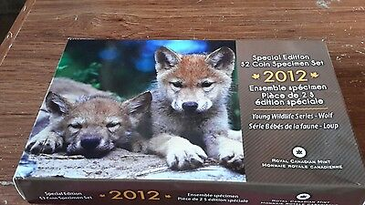 2012 Wolf Pups Special Edition $2 Coin Specimen Set Young Wildlife Canada