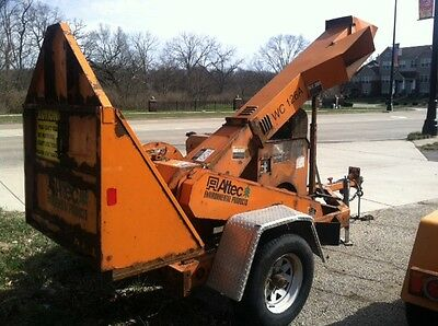 2010 Altec Wc126 Drum Brush Wood Chipper With 4 Cylinder Gas Engine