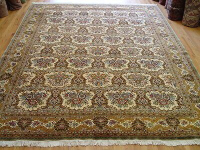 10' X 13'  Fantastic Persian Qum Hand Knotted Wool Oriental Rug - Quality Rug!