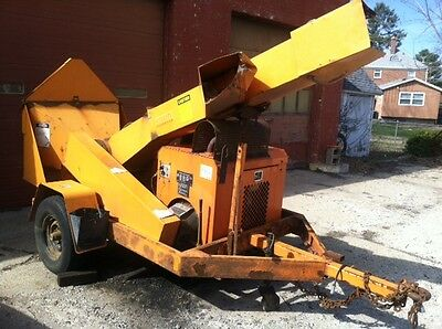 2010 Midsouth 412 Drum Brush Wood Chipper With 4 Cylinder Gas Engine