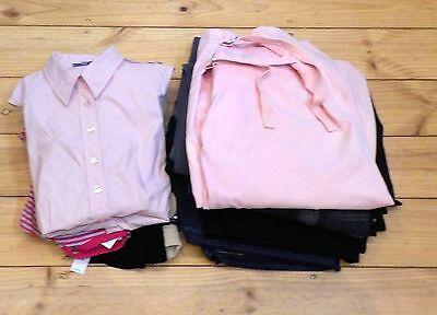 15 Maternity Clothes Trousers Jeans Top T Shirt Blouse Pink Black Grey Size 14