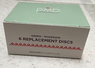 PMD Personal Microderm System, Microdermabrasion Replacement Discs 6PK GREEN NEW