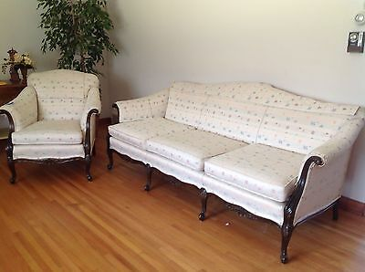Restored antique sofa and chair