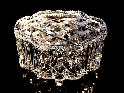 Beautiful Crystal Footed Box