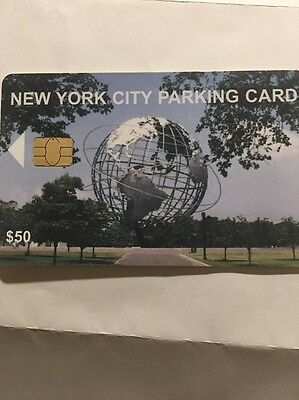 New York City Parking Card $50.00 Value. New