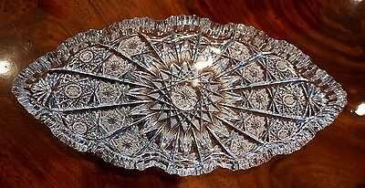 Beautiful American Brilliant Period Deep Cut Crystal Tray