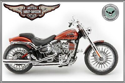 1:12 Scale Harley Davidson CVO Breakout Motorcycle. Collectable Diecast Model By