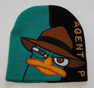 Agent P Perry Platypus Beanie Hat Toddler One Size 2T 3T 4T Phineas Ferb Disney