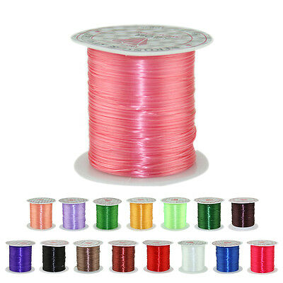 10M Strong Stretch Elastic Cord Wire rope Bracelet Necklace String Bead 0.5mm BD