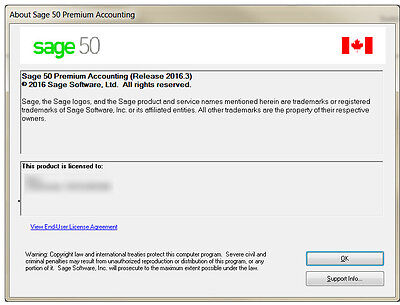 Sage 50 CANADIAN Premium 2016 - 2 softwares licenses (you and your accountant)