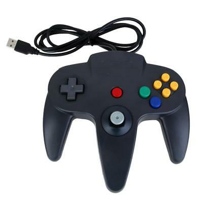 Wired USB Retro Design Game Pad Controller for Nintendo N64 PC Windows Black