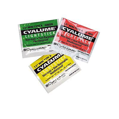 Cyalume Chem Light Mini Light Sticks Glow Sticks x 10 Phthalate Free, Non Toxic
