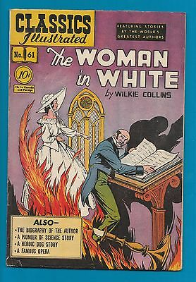 Classics Illustrated Comic Book 1949 The Woman in White #61  early edition  #803