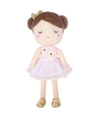Ballerina Rag Doll Toy Plush Cute Collectible Figure Soft Gift Girls Kids Pink