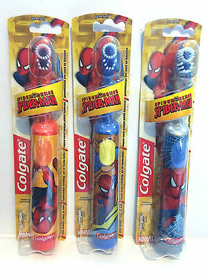 Colgate Marvel Spiderman Battery Powered Childrens Electric Toothbrush Teeth NEW