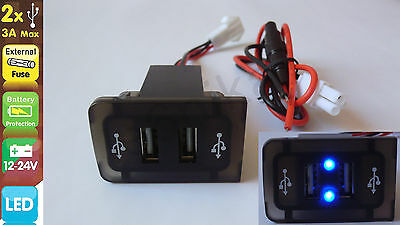 Vw Golf/bora Iv 4 Mk4 In Dash Dashboard Panel Dual Usb Port Charger Power Outlet