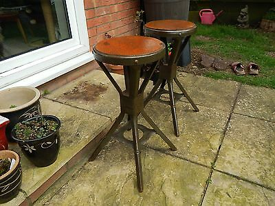 Evertaut Machinist Stool Bench Chair Vintage 1950s Beautiful Matched Pair Rare