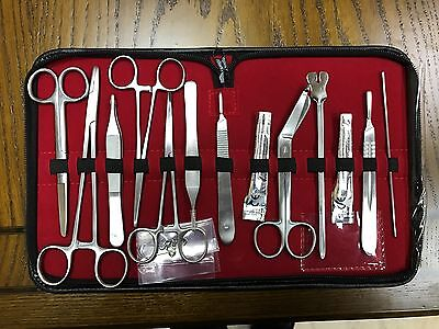Minor Surgery Set 14 Pieces Surgical Instruments kit Stainless Steel