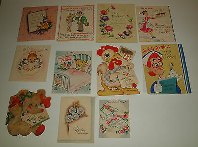 Vintage Lot 27 Signed GREETING CARDS Mid Century CRAFTS Scrapbook