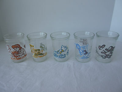 TOM AND JERRY Sports The Movie and Series 1 Welch's Jelly Jars Lot of 5