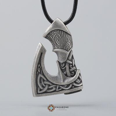 Big Axe Pendant Viking Axe Celtic Axe Slavic Axe Perun's  Silvered Bronze