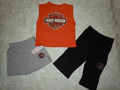 Harley Davidson Toddler shorts, pants, and top, size (see description)