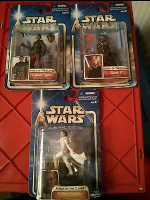 star wars figures 3 bulk sale  ATTACK OF THE CLONES collection 2