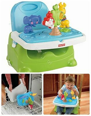 Booster Seat High Chair Baby Feeding Toddler Play Infant Learn Travel Tray Fold
