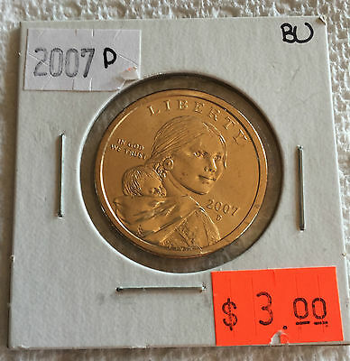 2007 Sacagewea US Dollar Coin D in BRILLIANT UNCIRCULATED (BU) Condition