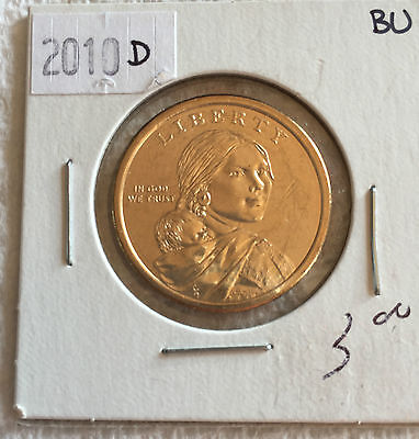 2010 Sacagewea US Dollar Coin D in BRILLIANT UNCIRCULATED (BU) Condition
