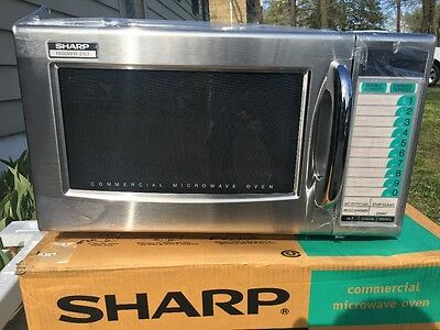 Sharp R-21Ltf, Medium Duty Commercial Microwave Oven, 3 Stage Cooking, 1000 W