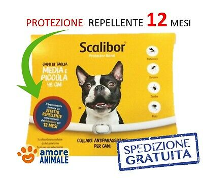 NEW SCALIBOR Collare - Taglia PICCOLA e MEDIA - Antiparassitario per cane cani