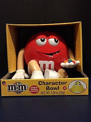 M&M's Red Character Bowl Candy Dispenser New In Box