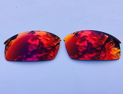 Polarized Ruby Fire Red Mirror Replacement Oakley Bottlecap Lenses