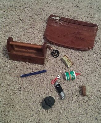 Breyer accesories tack and bridle and leather coin purse