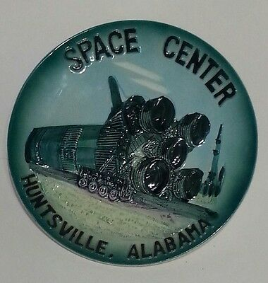 Space Center Huntsville Alabama Vintage hangable plate