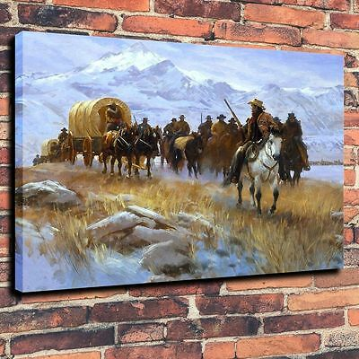 "HD Art Canvas Print Oil Painting ,Western, Detachment, Conductor 16""x20"""