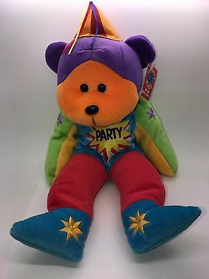 Beanie Kids Large Cuddly Kids Ck Surprise The Party Bear 1999 Retired Nwt Rare