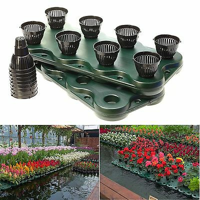 16Plugs /2pcs Aquaponics Floating Pond Planter Pots - Hydroponic Island Gardens