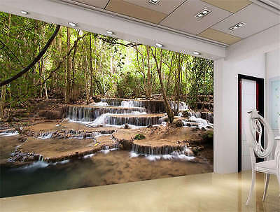 Wildlife Waterfalls Nature Full Wall Mural Photo Wallpaper Print Home 3D Decal