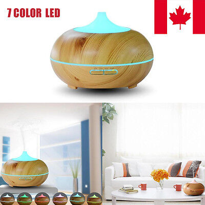 LED 300ML Wood Aroma Humidifier For Office Home Living Room Bedroom Humidifier