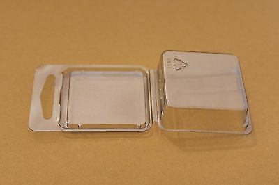 Clamshell Packaging Blister Packs plastic boxes Lot of 50 small square clear NEW