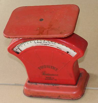 Retro Vintage Australian Post Office Persinware Red Scales