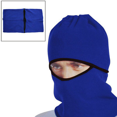 Blue Windproof Face Mask Cap Neck Protector Cover for Motorcycle Cycling Sport
