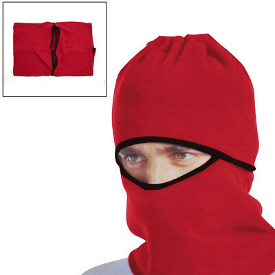 Red Windproof Face Mask Cap Neck Protector Cover for Motorcycle Cycling Sport