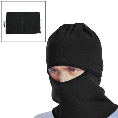 Black Windproof Face Mask Cap Neck Protector Cover for Motorcycle Cycling Sport